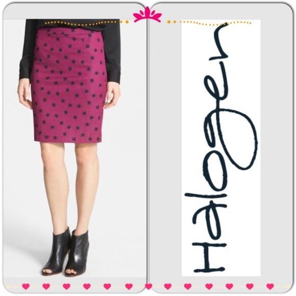 Halogen Dresses & Skirts - Halogen purple stars pencil skirt very chic